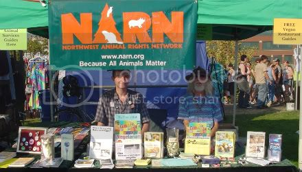 Bryan and Rabbit at the NARN outreach table at Hempfest 2008.