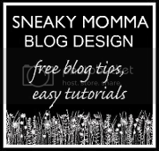 Sneaky Momma Blog Design